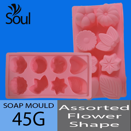 Soap Mold - 8x45G Assorted Flower Shape