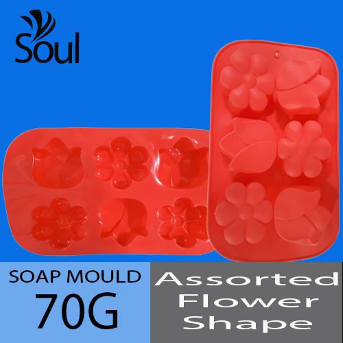 Soap Mold - Flower-Tulip Mix 6x70G