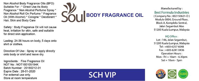 NOT For Body Fragrance Oil