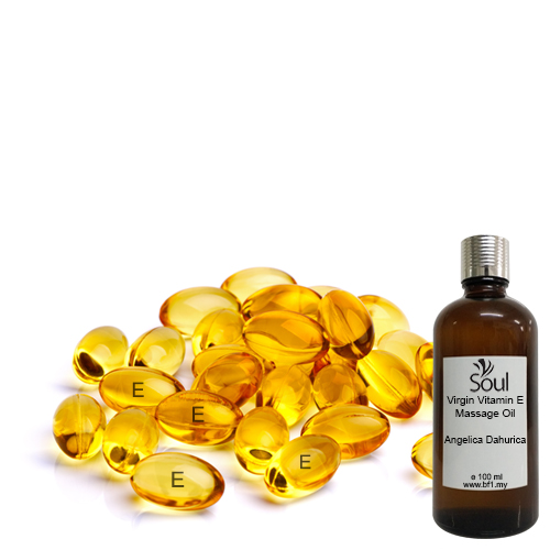 Virgin Vitamin E Massage Oil + Angelica Dahurica EO 100ml