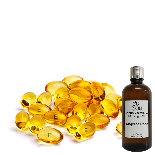 Virgin Vitamin E Massage Oil + Angelica Root EO 100ml